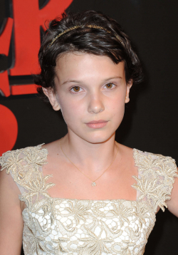 Full Millie Bobby Brown filmography who acted in the TV series Stranger Things.